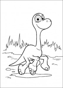kleurplaat Good Dinosaur (13)
