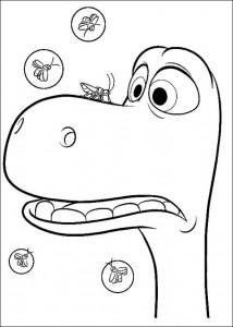 kleurplaat Good Dinosaur (7)