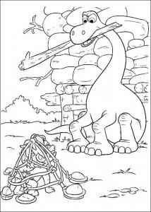 kleurplaat Good Dinosaur (9)