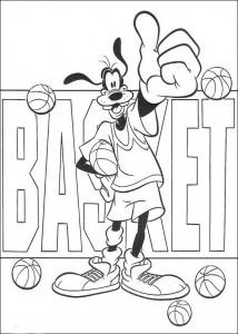 coloring page Goofy basketballs