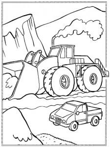 coloring page Gravemaskiner (1)