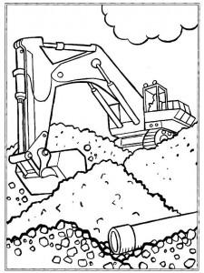 målarbok Grävmaskiner (2)