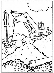 coloring page Gravemaskiner (2)