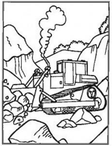 coloring page Gravemaskiner (3)