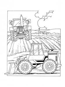 målarbok Grävmaskiner (4)