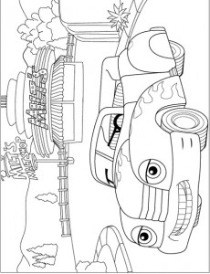 coloring page Funny convertible