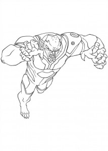 coloring page green goblin