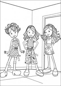 kleurplaat Groovy Girls (19)