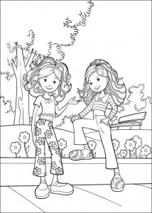 kleurplaat Groovy Girls (3)
