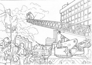 coloring page Great fire