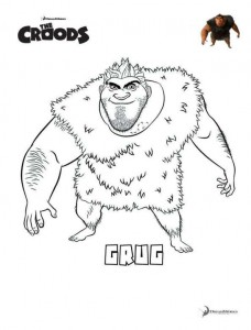 coloring page Grug