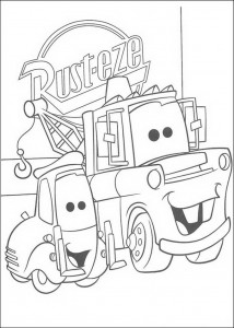 coloring page Guido and Takel