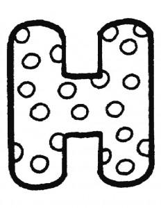 målarbok H