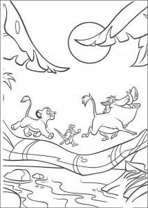 Disegno da colorare Hakuna Matata (2)