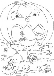 kleurplaat Halloween (105)
