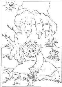 kleurplaat Halloween (117)