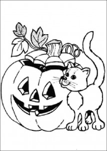 kleurplaat Halloween (130)