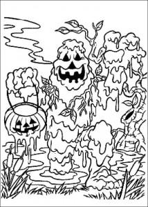 kleurplaat Halloween (25)
