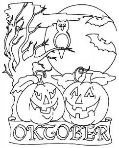 kleurplaat Halloween (51)