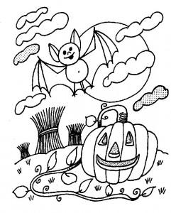 kleurplaat Halloween (79)