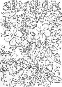 pagina da colorare Fatto a mano per adulti