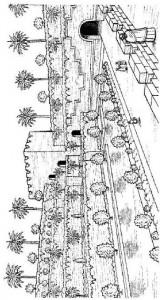 målarbok Hängande trädgårdar i Babylon