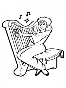 coloring page Harp (1)