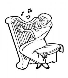 kleurplaat Harp (2)