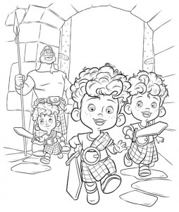 coloring page Harris Huber Hamish