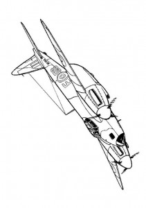 coloring page Havilland Musquito MK IV 1943
