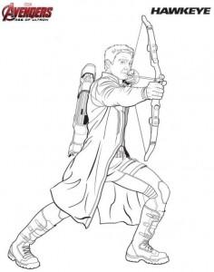 kleurplaat Hawkeye