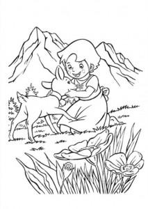 kleurplaat Heidi (10)
