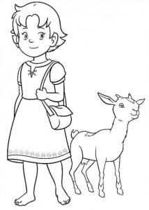 boyama kitabı Heidi