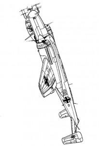 kleurplaat Heinkel Hc 219 1944