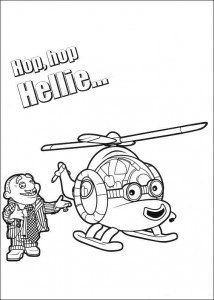 coloring page Hellie the helicopter
