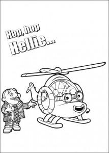 kleurplaat Hellie de helicopter