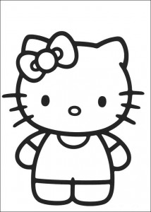 pagina da colorare Hello Kitty (1)
