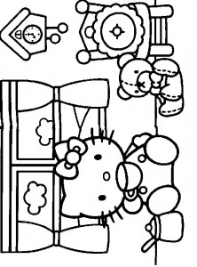 pagina da colorare Hello Kitty (28)