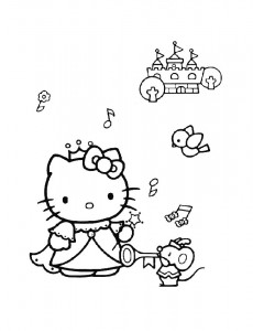 pagina da colorare Hello Kitty (34)