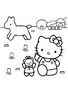 pagina da colorare Hello Kitty (36)