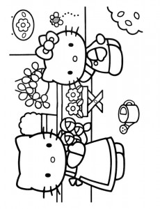 pagina da colorare Hello Kitty (39)