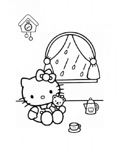 pagina da colorare Hello Kitty (40)