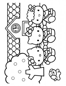 pagina da colorare Hello Kitty (43)