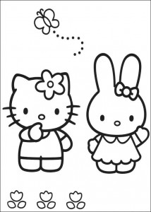 pagina da colorare Hello Kitty