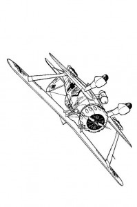 coloring page Henschell H123-1 1939