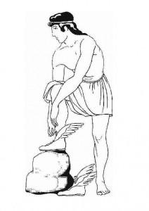 målarbok Hermes, handelsguden