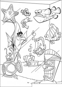 coloring page The aquarium