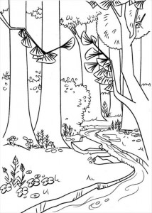 coloring page The forest