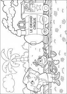 coloring page The circus is coming