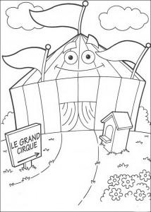 kleurplaat Het circus